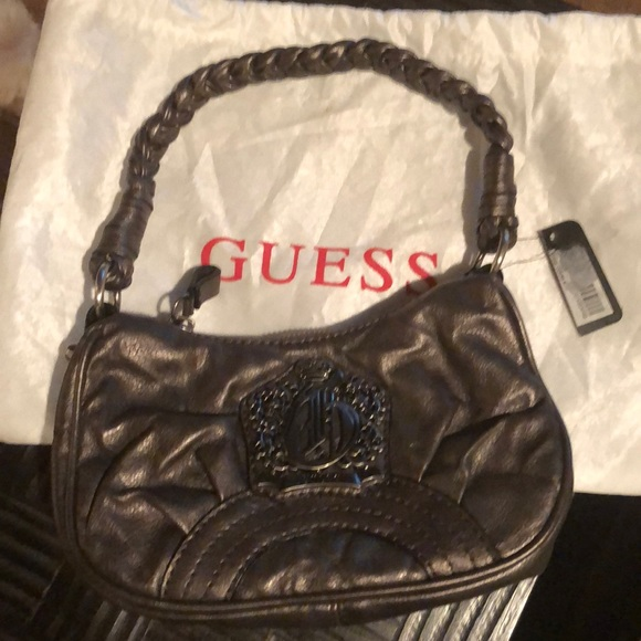 Guess by Marciano Handbags - Guess pewter mini handbag